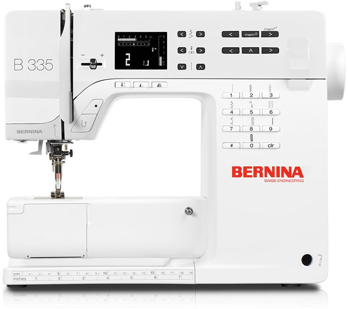 Machine à coudre BERNINA 335 + Pied #35 tirette invisible
